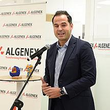 Ignacio Aguado, Vice President of the Madrid region, speaks at the inauguration of Algenex's facilities in Tres Cantos - October 24, 2020