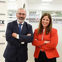 José Escribano (Algenex Founder and Chief Science Officer) and Claudia Jiménez (Algenex General Director)