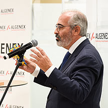 José Escribano, founder and Chief Science Officer of Algenex, at the inauguration of Algenex's facilities in Tres Cantos - October 24, 2020