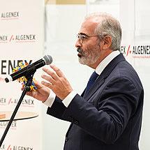 José Escribano, founder and Chief Science Officer of Algenex, at the inauguration of Algenex's facilities in Tres Cantos - October 24, 2020